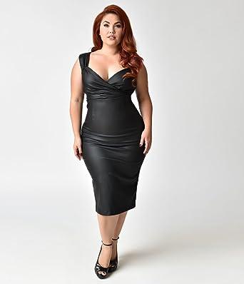 Unique Vintage Steady Plus Size Black The Devil Wears Diva