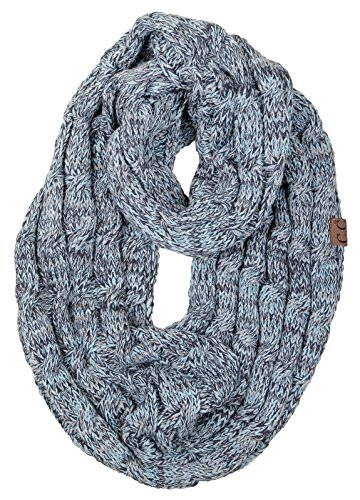 S1-6100-6254 Funky Junque Infinity Scarf - Hint of Mint ()