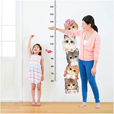 SFviwv Kids Height Growth Chart Wall Decals - Detachable Animal Height Measure DIY Family Room Wall Sticker for Baby Gift: Clothing