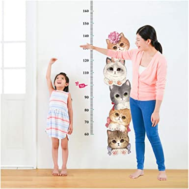 Detachable Animal Height Measure DIY Family Room Wall Sticker for Baby Gift SFviwv Kids Height Growth Chart Wall Decals