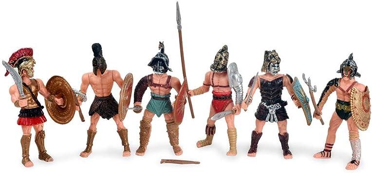 BOHS Guerreros del ejército Espartano Medieval Imperio de Roma Soldados de gladiadores con Arma o Escudo Figuras de acción Juguete ...: Amazon.es: Juguetes y juegos