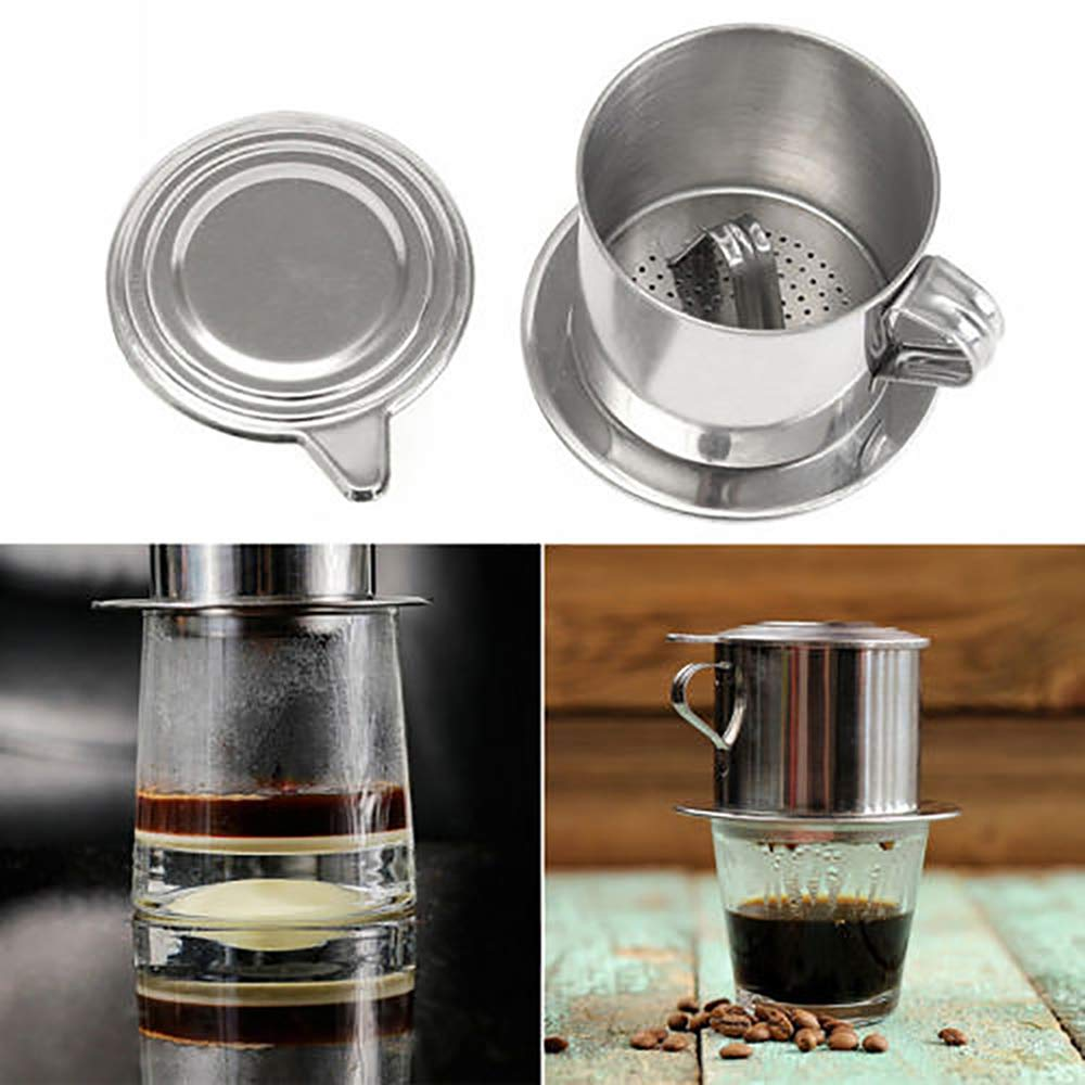 Vietnamese Coffee Filter Maker,Stainless Steel Vietnam Vietnamese Coffee Simple Drip Filter Maker Infuser New (100ml) by Way2top (Image #3)