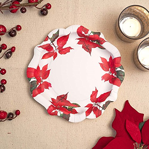 - Talking Tables Botanical Poinsettia Design Disposable Plate 11