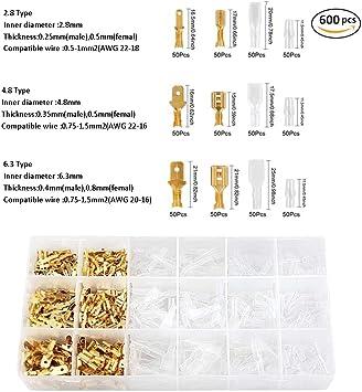 Dechengbao Kit de sertissage pour bornes /à cliquet isol/ées AWG22-10 avec 700 pi/èces isol/ées /à cosse /à cosse /à cosse /à cosse /à sertir