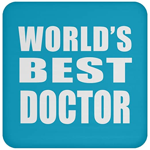 Worlds Best Doctor - Drink Coaster Turquoise Posavasos para ...