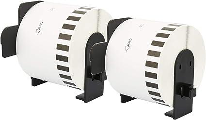 1000 Etichette per Rotolo 5x Compatibili Rotoli DK-11221 23mm x 23mm Etichette adesive per Brother P-Touch QL-500 QL-550 QL-560 QL-570 QL-700 QL-720NW QL-800 QL-810W QL-820NWB QL-1050 QL-1110NWB