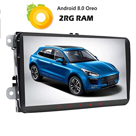 Android 8.1.0 2GB RAM coche estéreo unidad central para VW Golf Skoda Passat Jetta Polo asiento 9