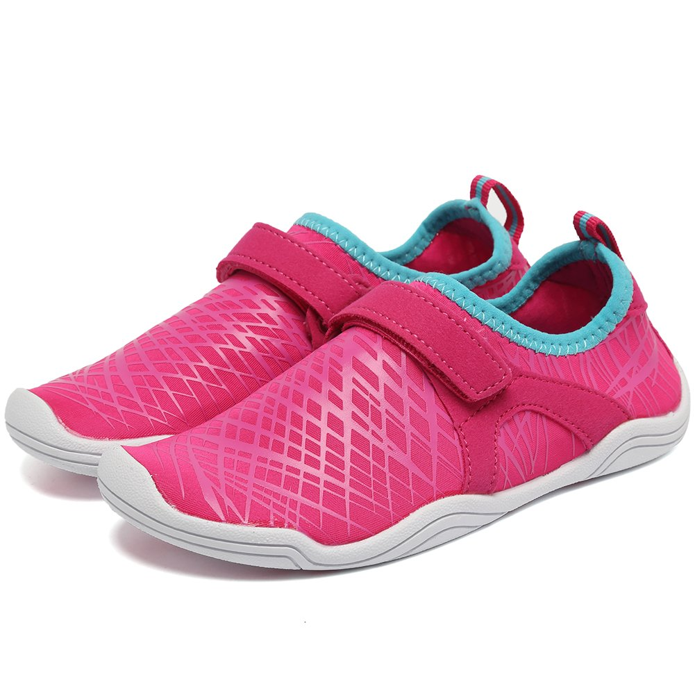 Fantiny Boys & Girls Water Shoes Lightweight Comfort Sole Easy Walking Athletic Slip on Aqua Sock(Toddler/Little Kid/Big Kid) DKSX-Pink-33 by CIOR (Image #3)