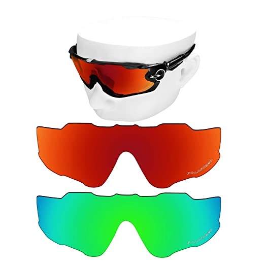 d2915e500c3 Image Unavailable. Image not available for. Color  OOWLIT 2 Pair Replacement  Sunglass Lenses for Oakley Jawbreaker POLARIZED