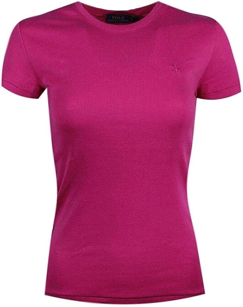 Ralph Lauren Polo Women's Crewneck Pony Logo T-Shirt - M - Pink