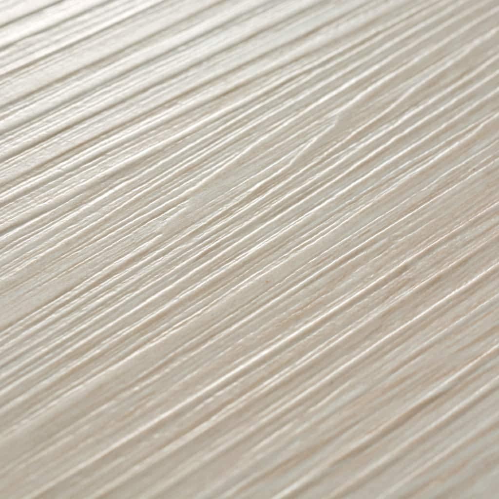 vidaXL 36x Lamas de Suelo 5,02 m/² PVC 2mm Roble Blanco Baldosa de Tarima
