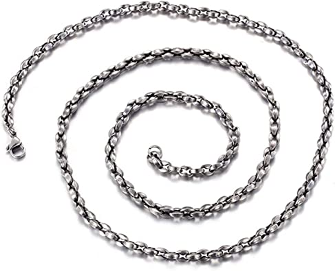 collier acier homme 60 cm
