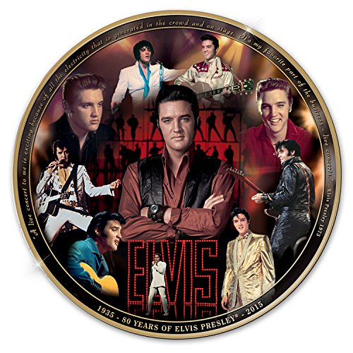 Elvis Presley 80th Anniversary Masterpiece Commemorative Collector Plate by The Bradford Exchange by Bradford Exchange
