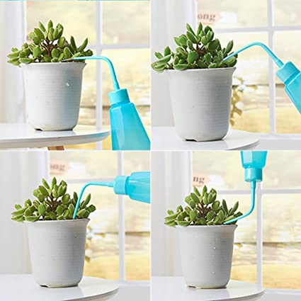 Bloomma Set of 1 Plastic Succulent Watering Can Bottle Bend Mouth Squeeze Bottle Fit for Garden Flower Plants Cactus Orchids and Other Tiny Pots,10.24x 2.56