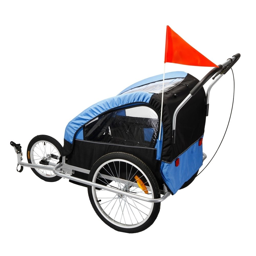 Confidence 2 In 1 Baby Bike Trailer W Suspension