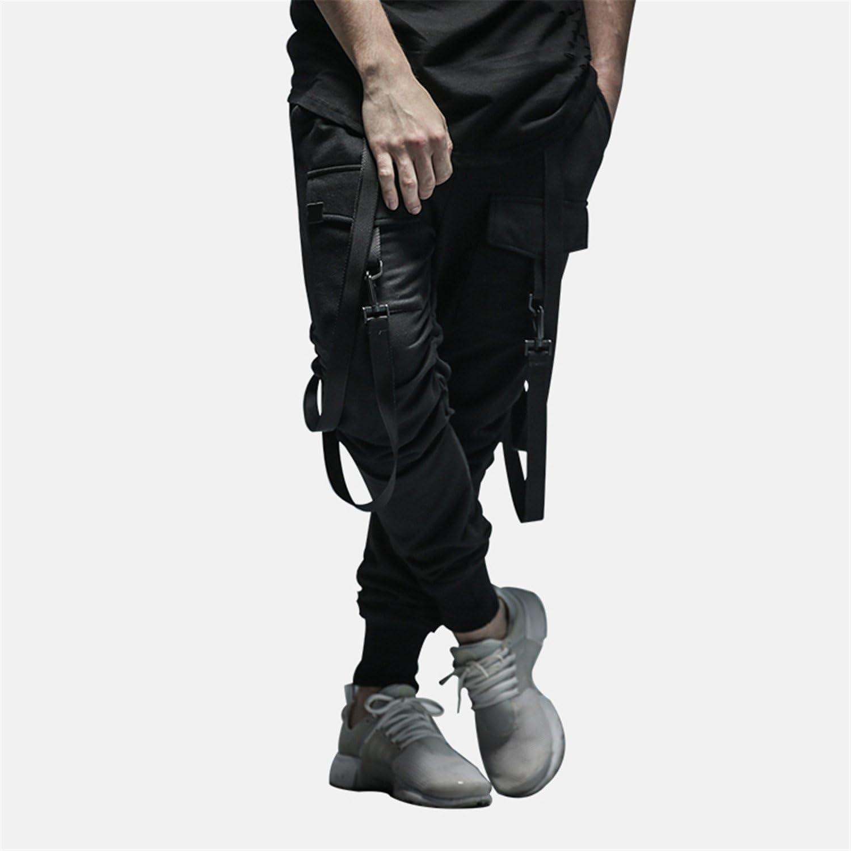 New Dry Mens Pants Pocket Full Length Men Hiphop Joggers Pants Plus Size Trousers Men Belt