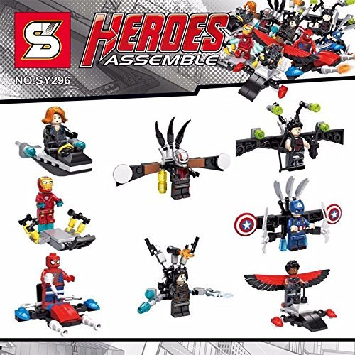 Marvel super heroes Captain America civil war avengers building block Ant-man Winter Soldier Black widow Spider Man minifigures