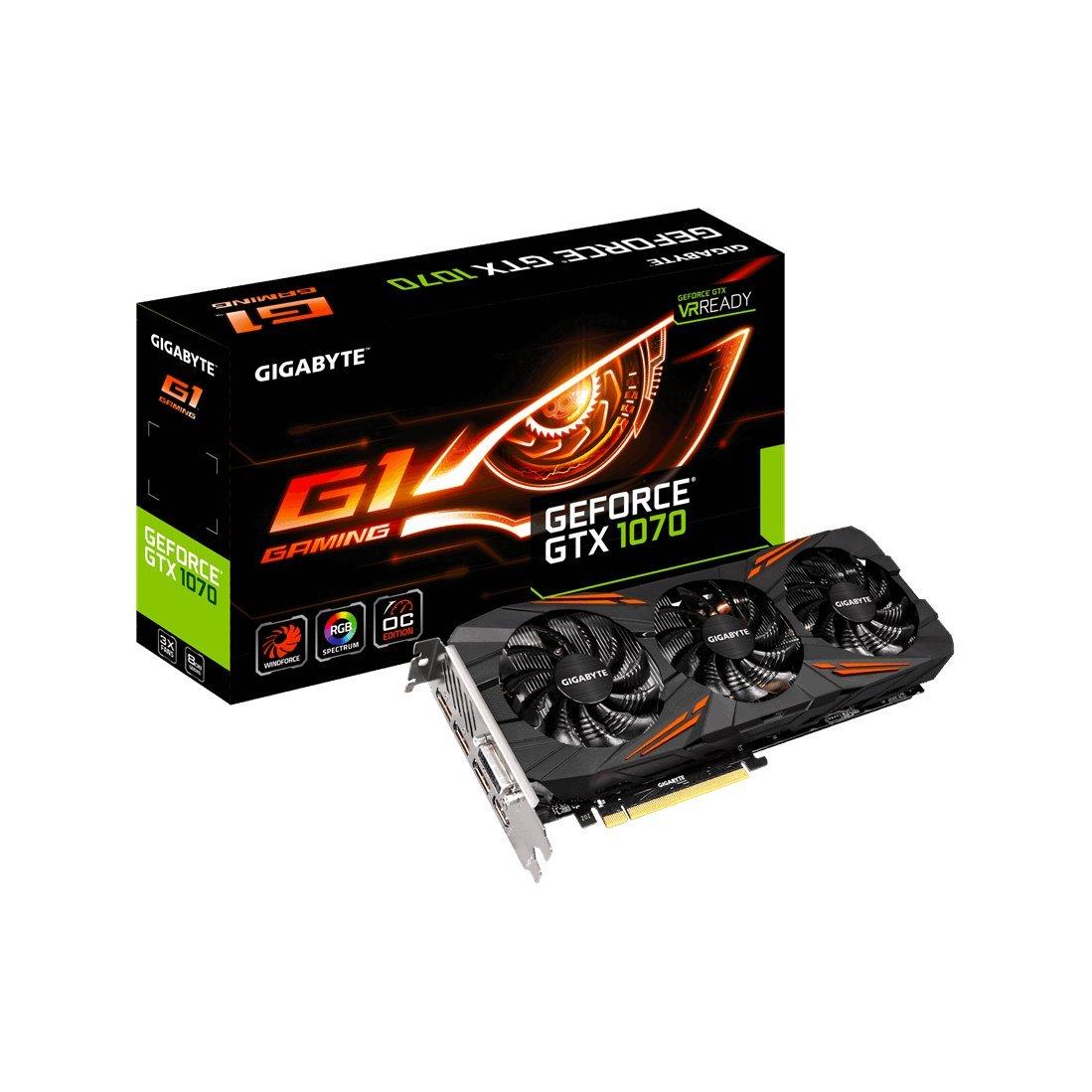 GIGABYTE ビデオカード NVIDIA GeForce GTX 1070搭載 オーバークロック ゲーミングモデル GV-N1070G1 Gaming-8GDがパソコン・周辺機器ストアでいつでもお買い得。当日お急ぎ便対象商品は、当日お届け可能です。アマゾン配送商品は、通常配送無料(一部除く)。