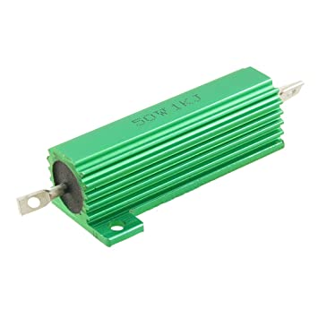 50 Watt 1 K Ohm 5% grün Aluminium Shell Draht Wunde Widerstand ...