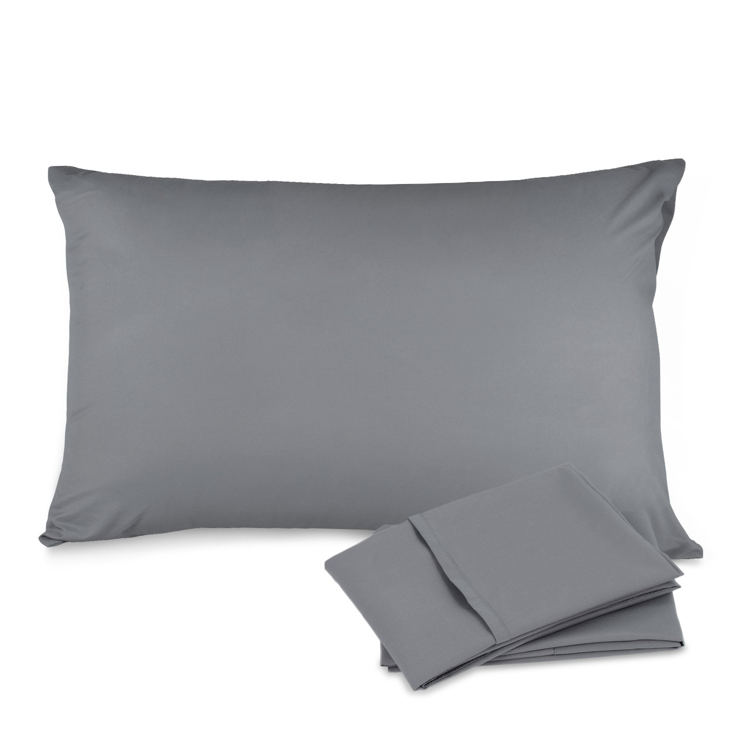 Adoric Set of 2 Pillow Cases Queen, 20x30, Elegant Double Stitched Tailoring, Ultra Soft, Dust Mite & Allergy Control Pillow Protector