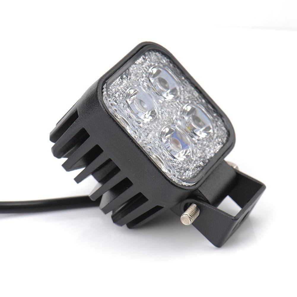 Himanjie lot Phare de Travail Led 12W 12V Lampe Voiture Carr/é Feux de Jour led Auto Imperm/éable IP67