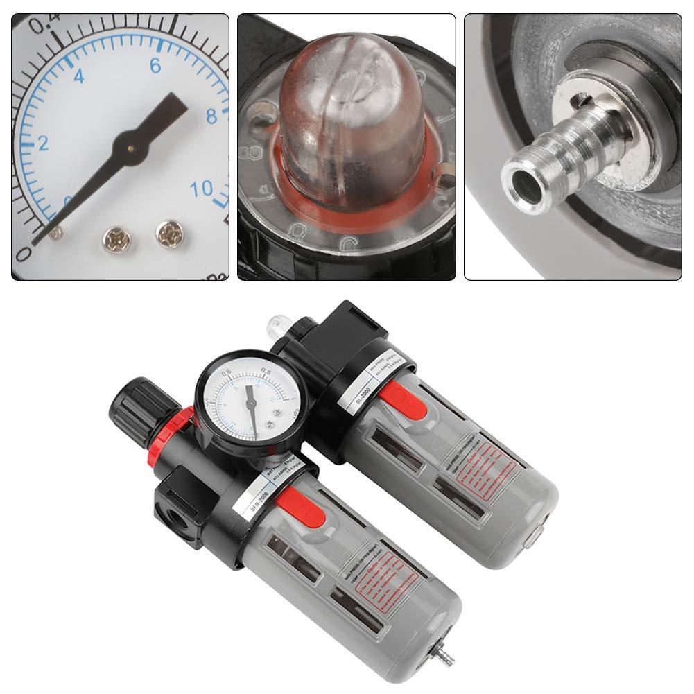 PT1//4 Air Pressure Compressor Filter Gauge Trap Oil Water Regulator Tools Kit Hydraulic Valve Oil Water Regulator Tool Air Filter Regulator