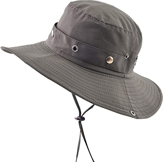 5dccb89d826 Mens Outdoor Sun Cap Bucket Boonie Hat Fishing Hats String Hat Army Green