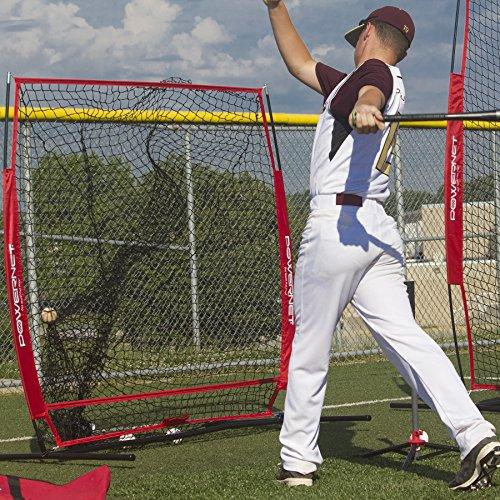 b635ec353 PowerNet Baseball and Softball Practice Net 5 x 5 (Bundle with Strike Zone  and Training