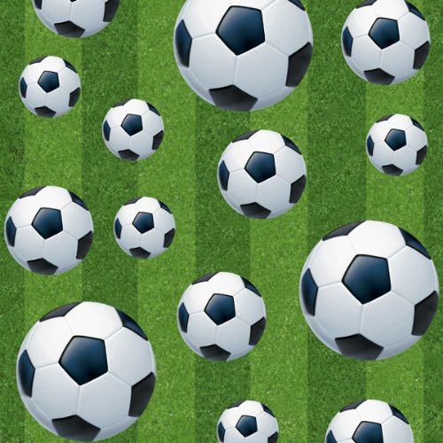 Creative Party Plastic Football Table Cover Partyrama 27303UNQ-soccr-F