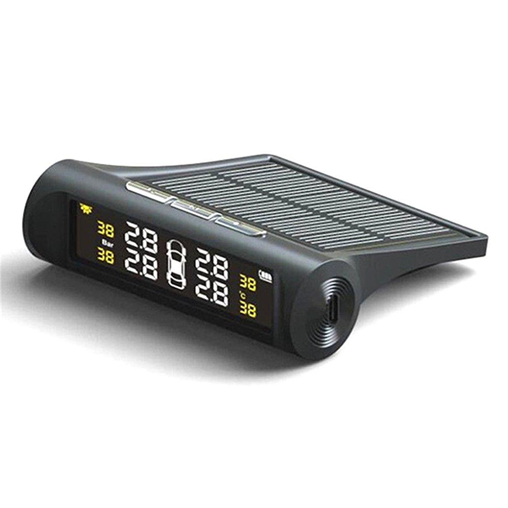 GETIT72 IP67, TPMS impermeable, sistema de monitoreo de presi/ón de los neum/áticos de coche + 4 sensores externos para coches de 12 V Monitor de presi/ón de neum/áticos de coche inal/ámbrico