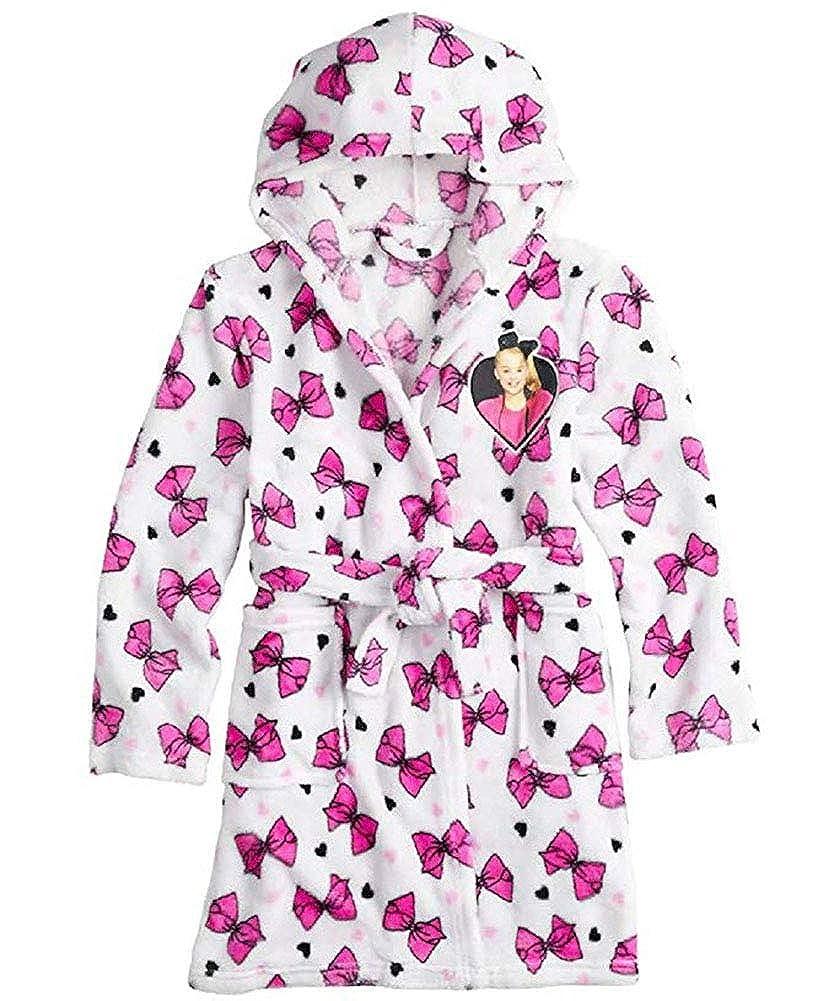 JoJo Siwa Kids Robe for Girls Hooded Soft Plush Fleece Bath Robe
