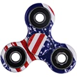 Fidget Toy Hand Spinner Camouflage, Stress Reducer Relieve Anxiety and Boredom Camo, USA Flag