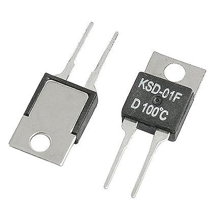 SODIAL(R) 5 Pcs 100C NC Temperatura Controlador Termostato KSD-01F 250VAC/