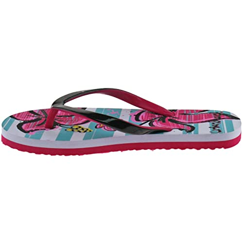 GIRLS URBAN BEACH FLIP FLOPS SIZE UK 10 - 2 THONG BEACH SANDALS BLUE/PINK/PURPLE  FLOWERS FW721: Amazon.co.uk: Shoes & Bags