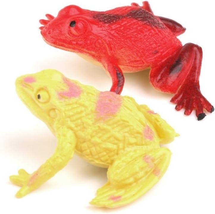 Ueetek Mod/èle Plastique Grenouille Figurines enfants jouet Lot de 12/pcs Multicolore