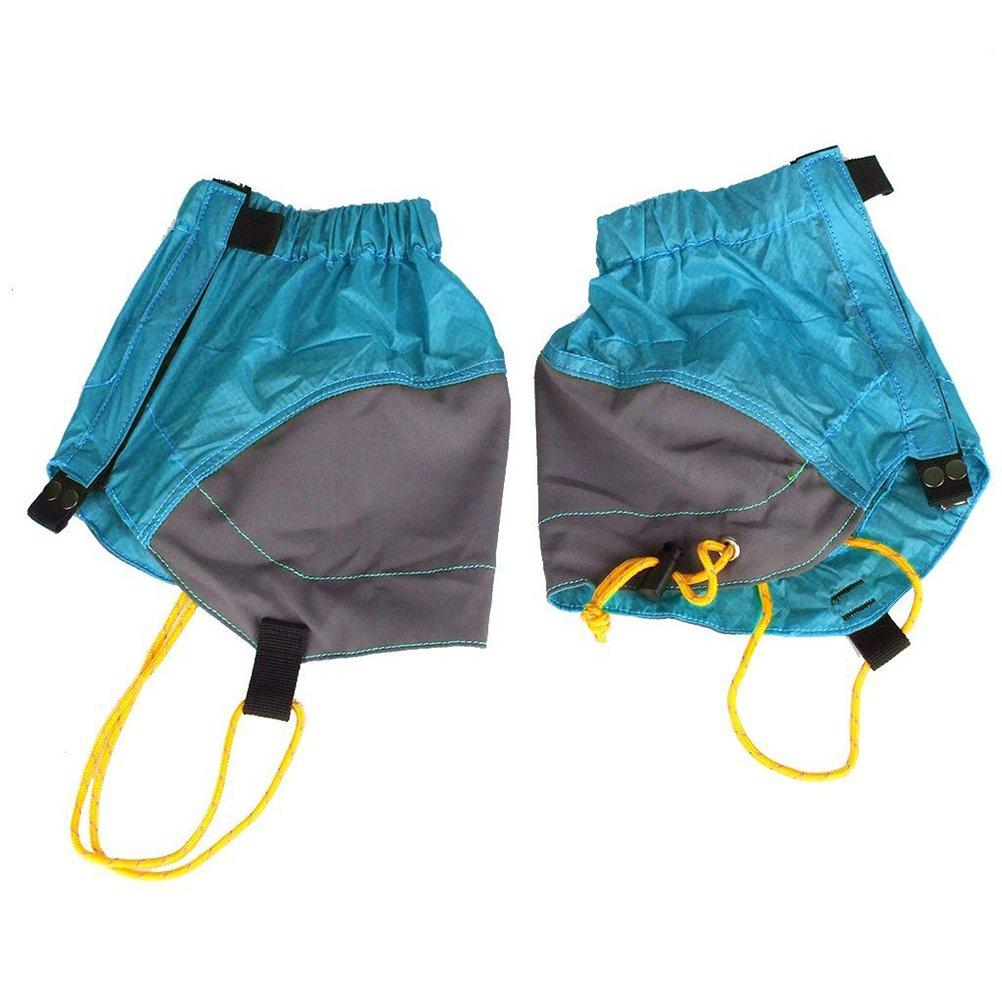 ROSENICE Hiking Gaiters Pair of Outdoor Waterproof Ankle Walking Gaiters Hiking (Blue)
