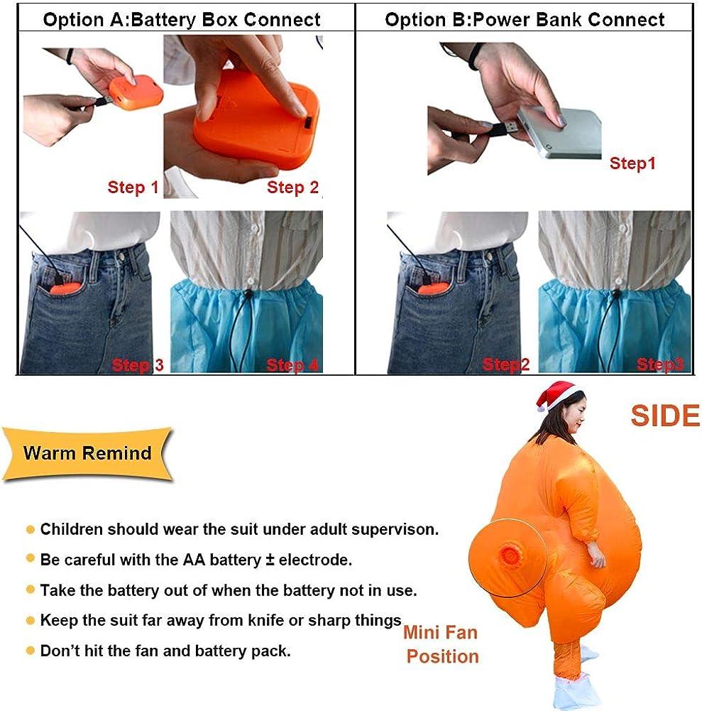 Amazon.com: HUAYUARTS - Disfraz hinchable para adulto con ...