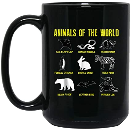 Amazon com: Animals Of The World Funny Humor Vintage Gift 15