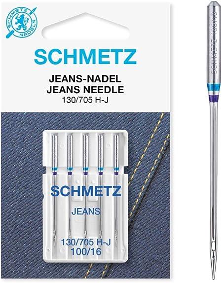 SCHMETZ Agujas para máquina de coser de tela vaquera 130/705 H-J ...