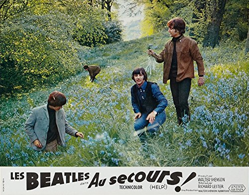 The Beatles Help French Lobby Card Replica 14 x 11