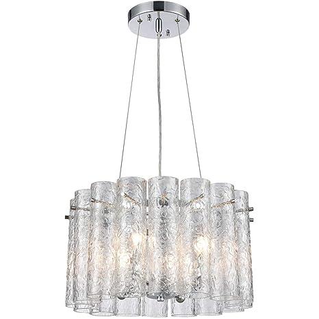 Amazon.com: Colgantes 4 lámparas con acabado cromado pulido ...