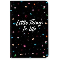 Factor Notes - Little Things in Life (Black) Ruled B6 Notebook - Premium Stationery, Natural Shade Paper Journal Diary - Size - 120mm X 180mm
