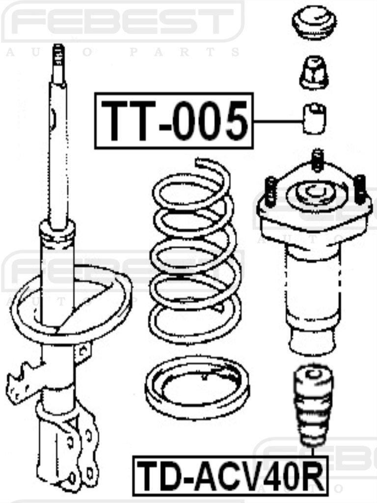 48341-06012 Toyota Rear Bumper Spring Febest Oem