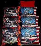 Custom USA Air force Jets Military 8 cornhole ACA regulation cornhole bags B75