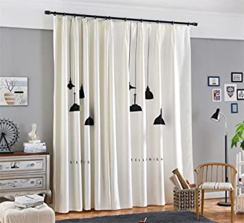 Vorhang 3D Schwarz Kronleuchter Print Stoffe Europäische Stil Semi Shading  Pleat Moderne Minimalistische Kinder Schlafzimmer