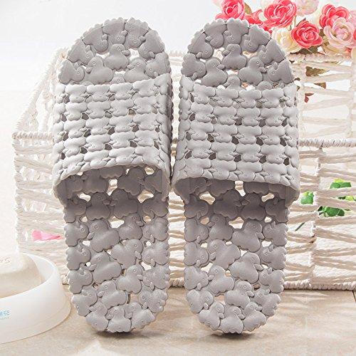 punta scarpe di cava Gli interni spessore di e pantofole donne e antislittamento uomini le di freddo Light grey di YMFIE stenky da Taq7HSqx