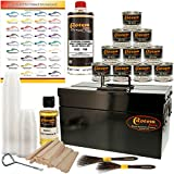 Custom Shop Pinstriping Ultimate Box Kit with Metal Storage Box - 10 - 4 Ounce Enamel Paint Colors, Tape, Color Chart, Reducer, Brushes and Mixing Cups