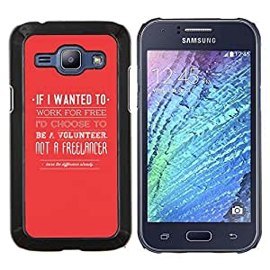 TECHCASE---Cubierta de la caja de protección para la piel dura ** Samsung Galaxy J1 J100 ** --Freelancer Voluntariado Jobe Cita Roja