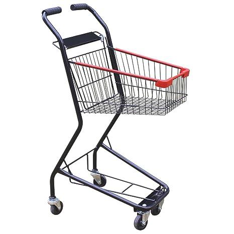 KUN Peng Shop el Carro de la Compra del Negro de la Rueda Doble del supermercado