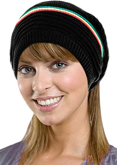 WOMENS SOFT WARM WINTER KNITTED SLOUCH OVERSIZE LONG FASHION BEANIE HAT UK